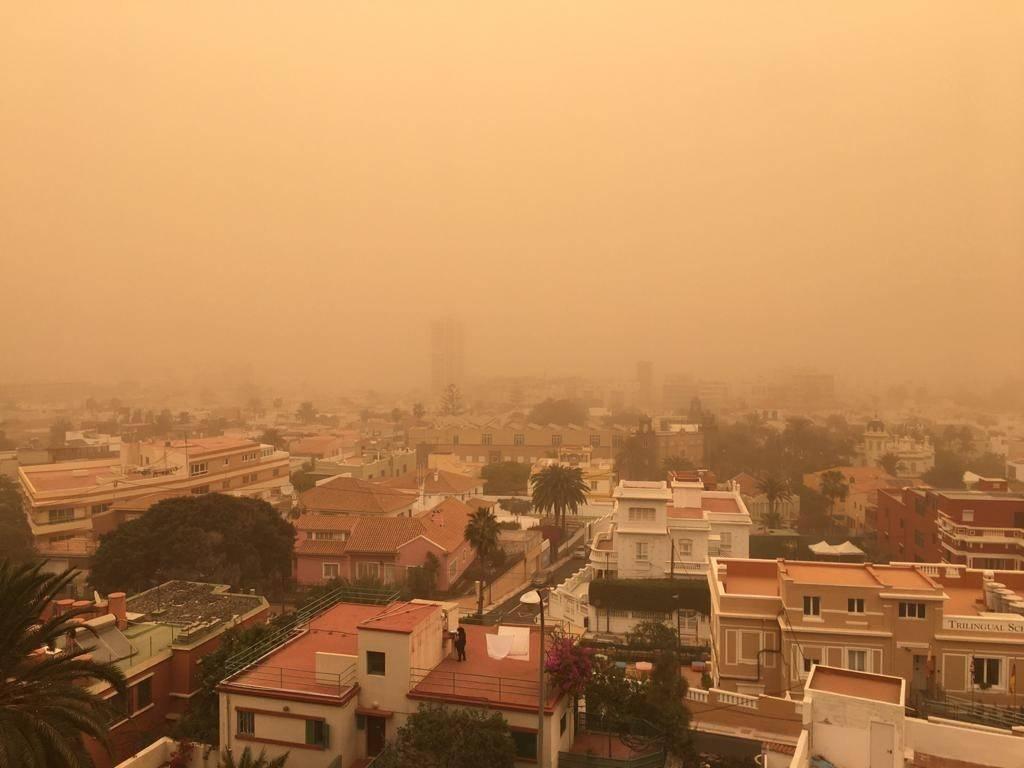 Calima, sandstormur á Tenerife